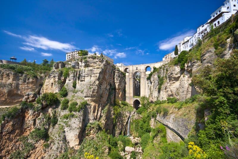 взгляд andalucia панорамный ronda Испании стоковые фотографии rf
