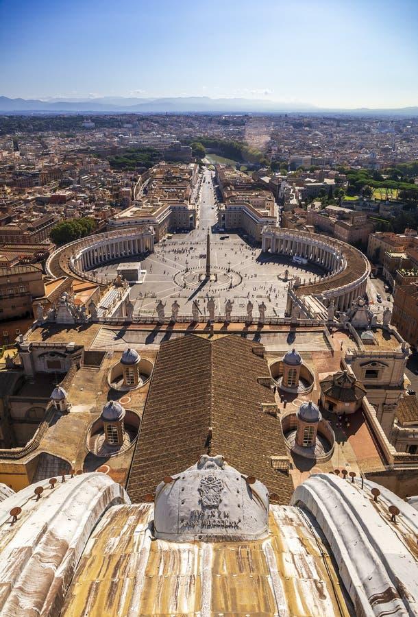 Взгляд Arial от собора St Peter стоковое фото rf