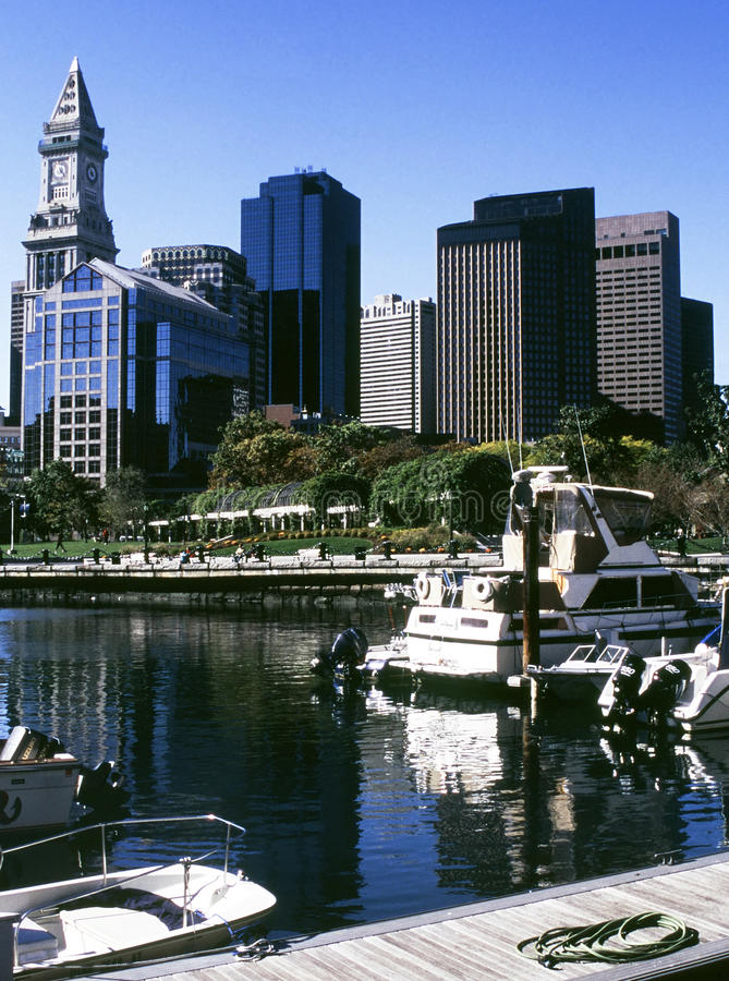 взгляд boston стоковое изображение rf