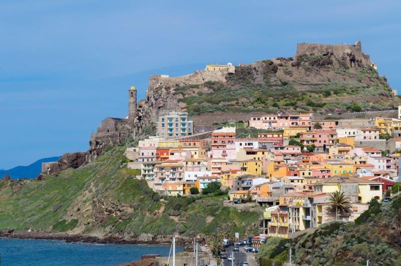 Взгляд Castelsardo - Италии стоковое фото