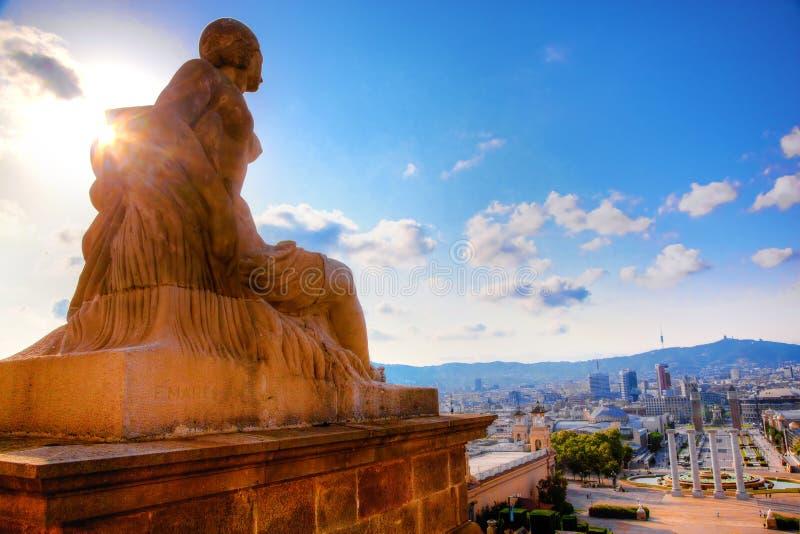 взгляд catalunya barcelona стоковое изображение rf