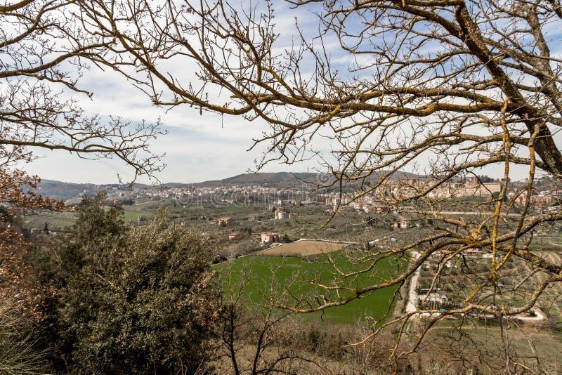 Взгляд Chianciano Terme стоковое изображение rf
