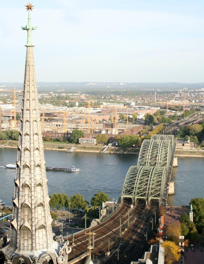 взгляд cologne города стоковое изображение rf
