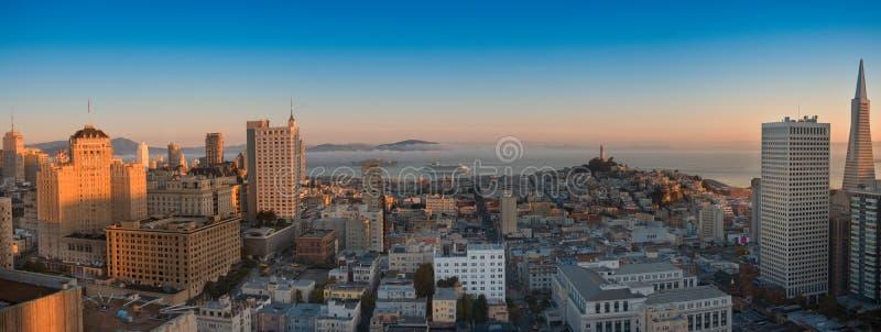 взгляд francisco панорамный san воздушного залива зоны стоковое изображение rf