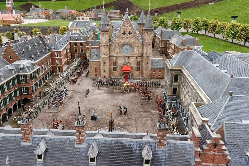 взгляд hague птицы binnenhof ridderzaal стоковые фото