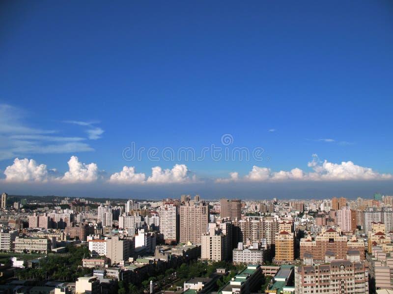 взгляд kaohsiung города стоковая фотография