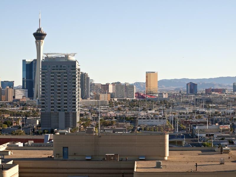 взгляд Las Vegas дня стоковое фото rf