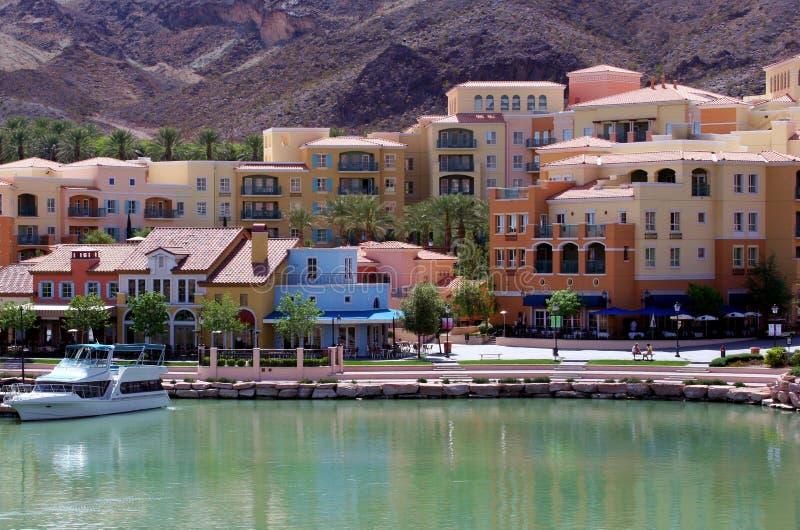 взгляд Las Vegas озера города стоковые изображения rf