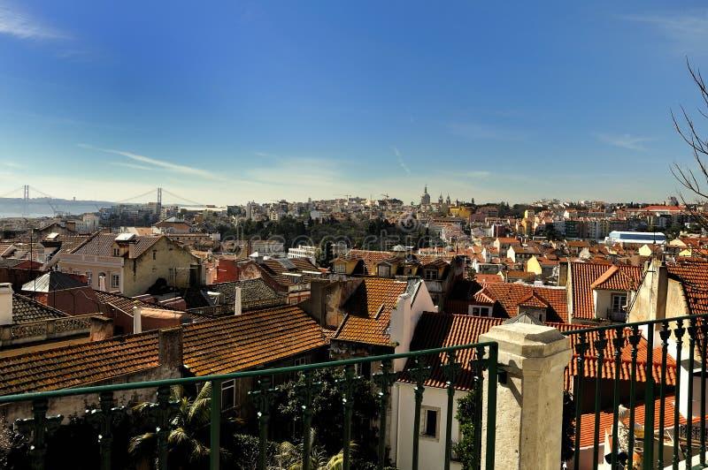 взгляд lisbon города стоковая фотография rf