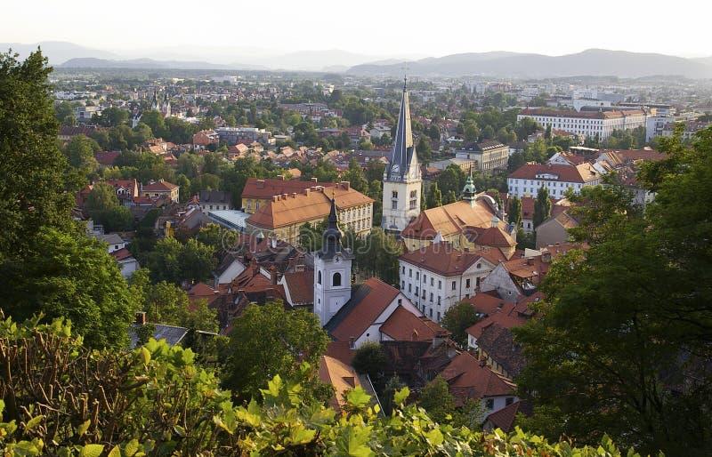 взгляд ljubljana Словении стоковые фото