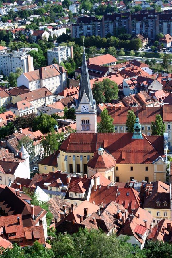 взгляд ljubljana Словении стоковые изображения