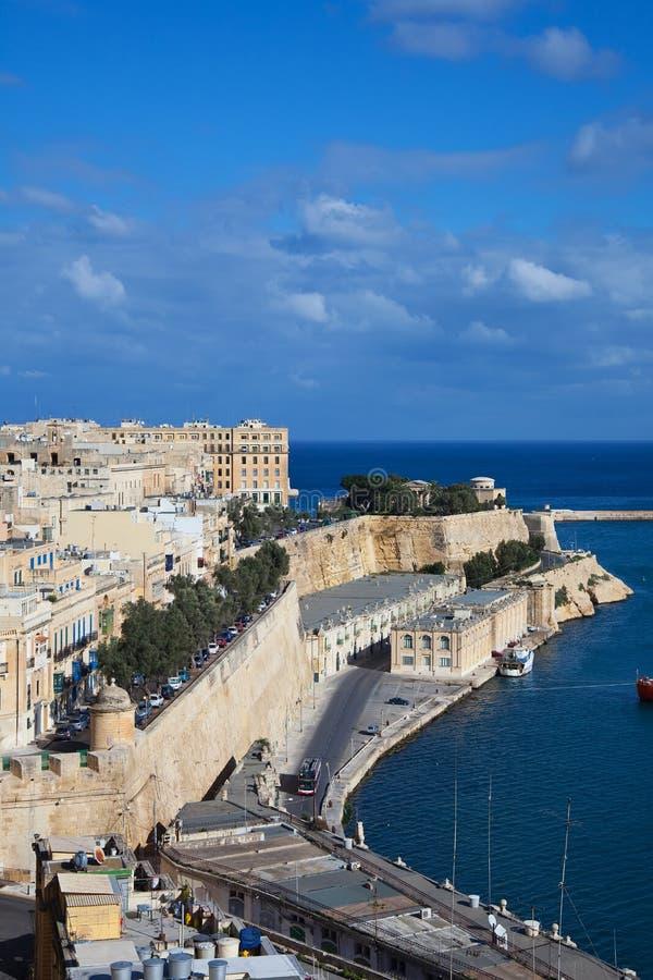 взгляд malta valletta стоковые фотографии rf