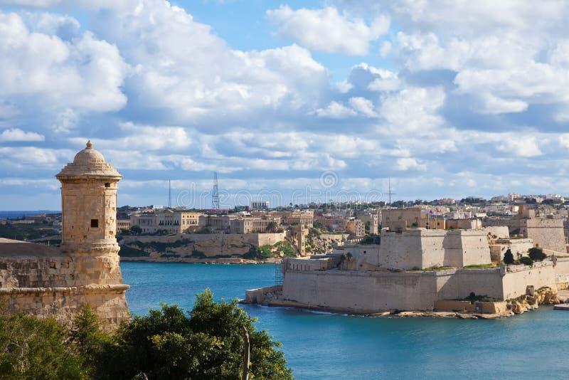 взгляд malta valletta стоковые изображения