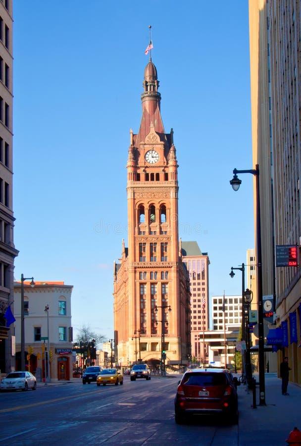 взгляд milwaukee здание муниципалитет южный стоковые изображения