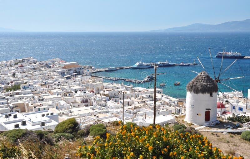 Взгляд Mykonos стоковые фотографии rf