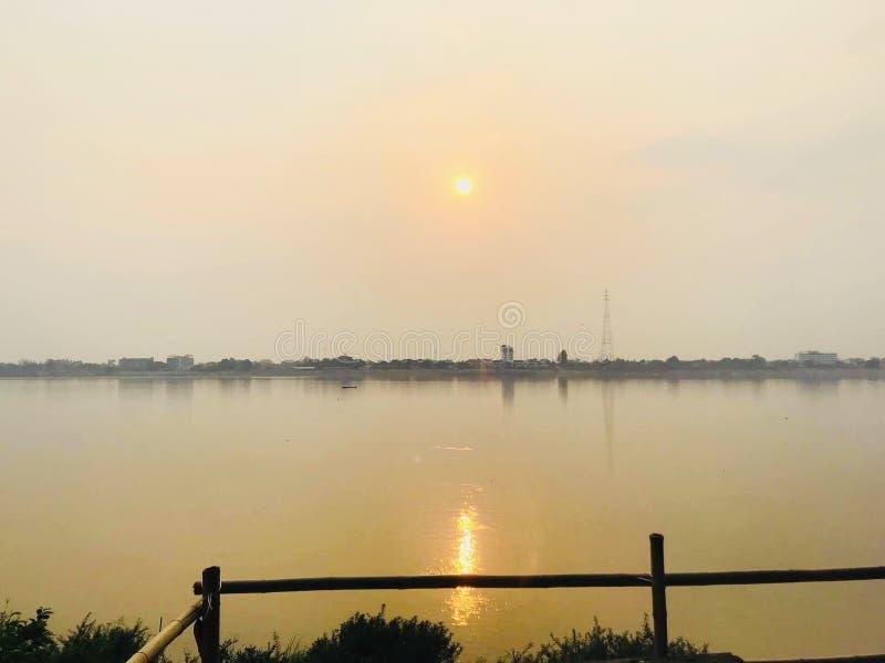 Взгляд Namkhong в thakhek мое vihome стоковые фото