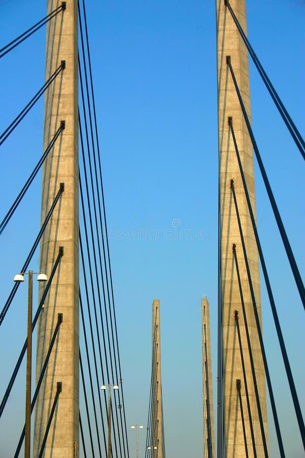 взгляд oresund детали моста стоковое изображение rf