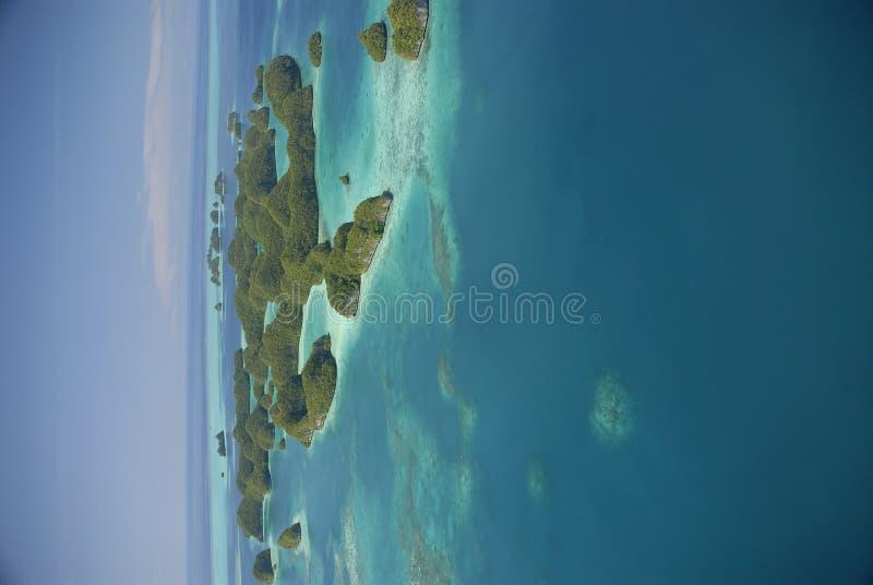взгляд palau s 70 островов антенны известный стоковое изображение rf