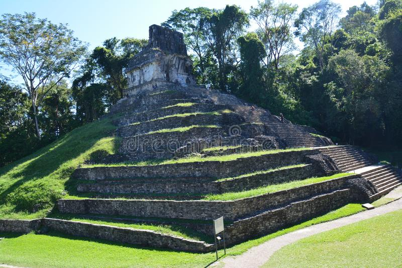 Взгляд Palenque губит Чьяпас мексиканський стоковые фотографии rf