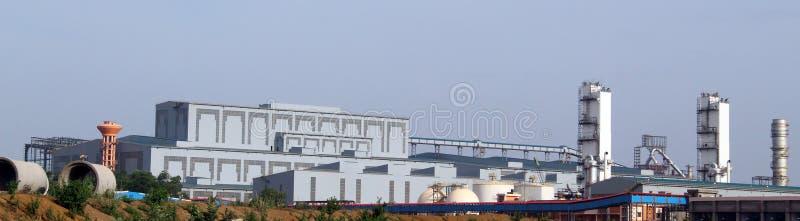 Взгляд Panorma района завода по изготовлению стали стоковое изображение