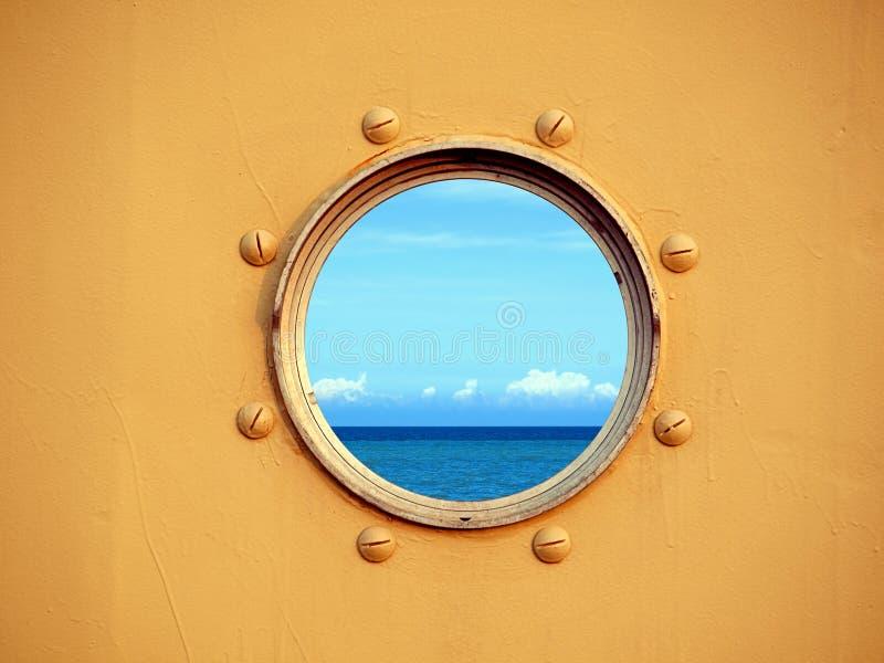 взгляд porthole океана стоковые изображения