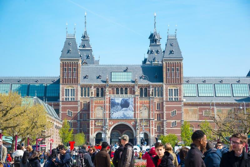 Взгляд Rijksmuseum в Амстердаме, Нидерландов стоковое фото