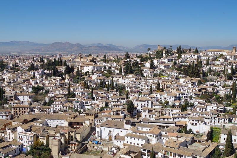 Взгляд ` s Гранады от Альгамбра стоковые фото