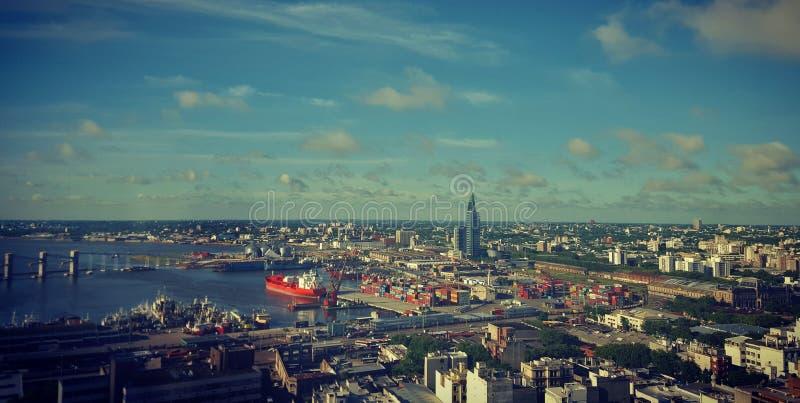 Взгляд ` s порта Монтевидео стоковое изображение