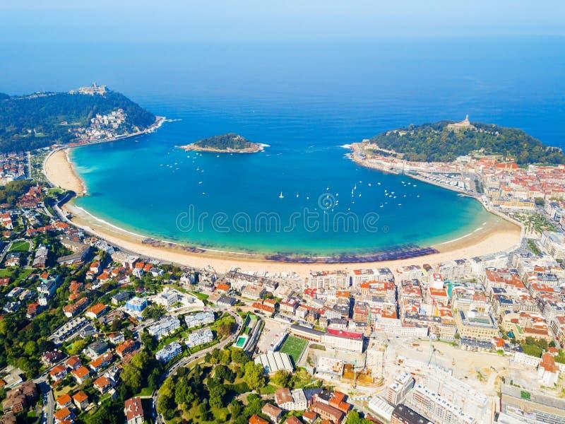Взгляд San Sebastian воздушный панорамный стоковое изображение rf