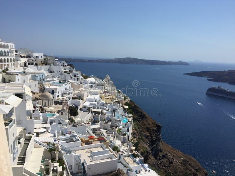 Взгляд Santorini стоковое изображение