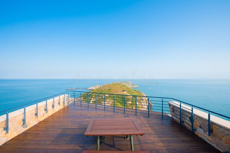 взгляд seascape matsu острова h стоковое фото