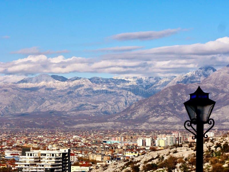 Взгляд Shkoder, Албании стоковая фотография