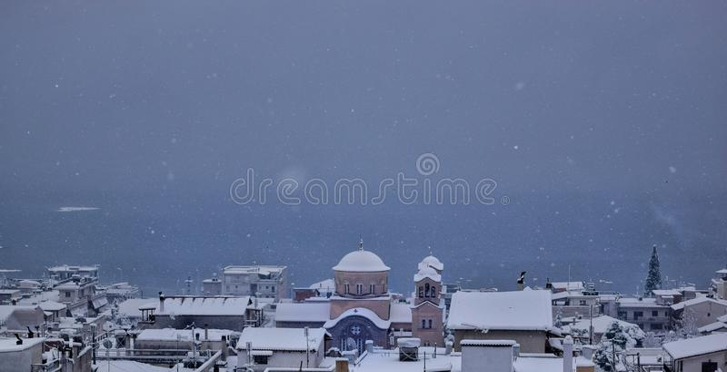 Взгляд Snowy стоковое изображение