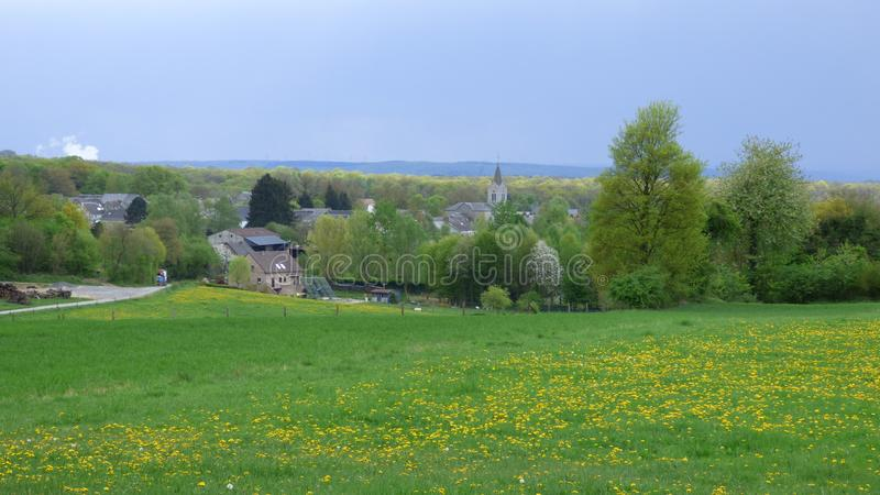 Взгляд soulme деревни, Бельгия стоковое изображение rf
