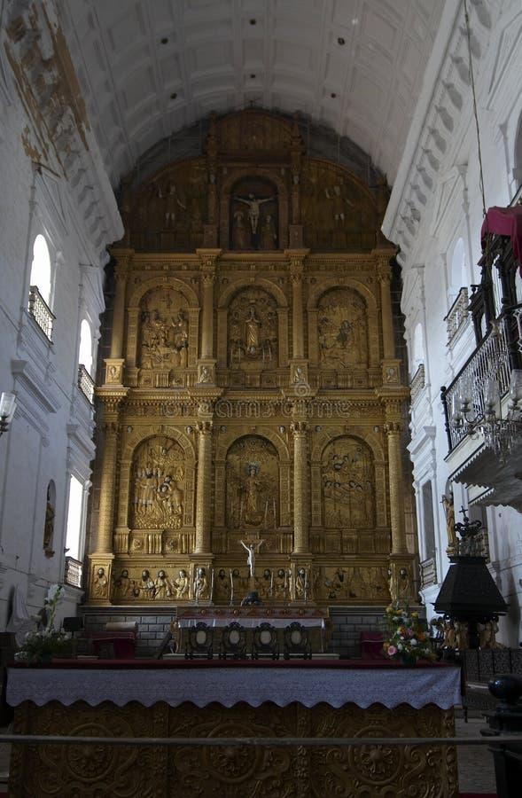 взгляд st Кэтрины alexan собора внутренний стоковая фотография rf