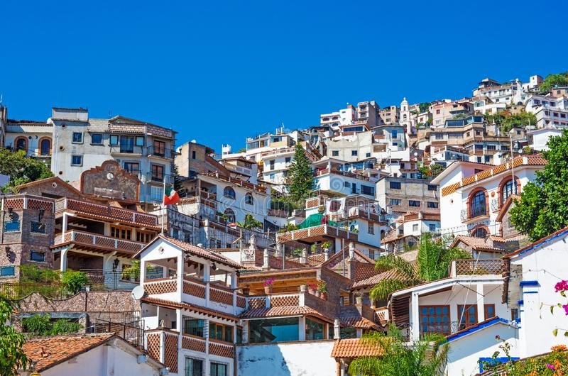 Взгляд Taxco, Геррера, Мексики стоковое изображение rf