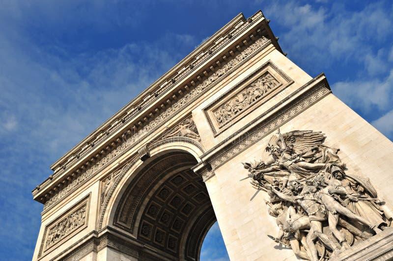 взгляд triomphe de paris дуги красивейший стоковая фотография