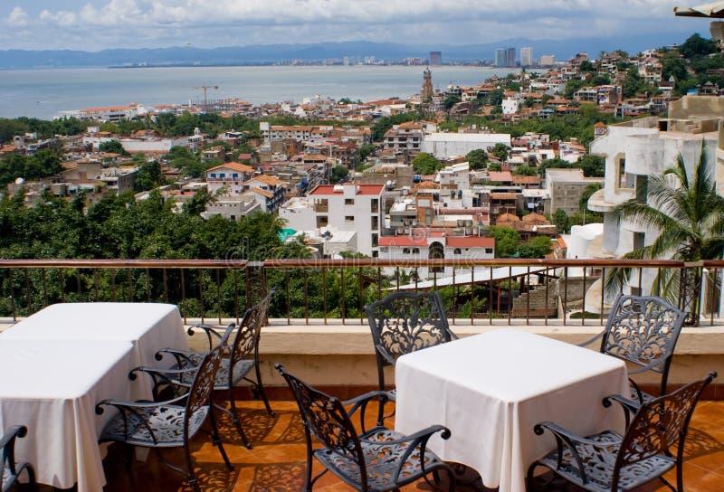 взгляд vallarta puerto стоковая фотография