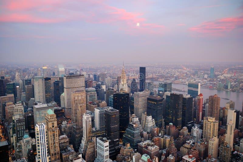 взгляд york воздушного города новый стоковые фотографии rf