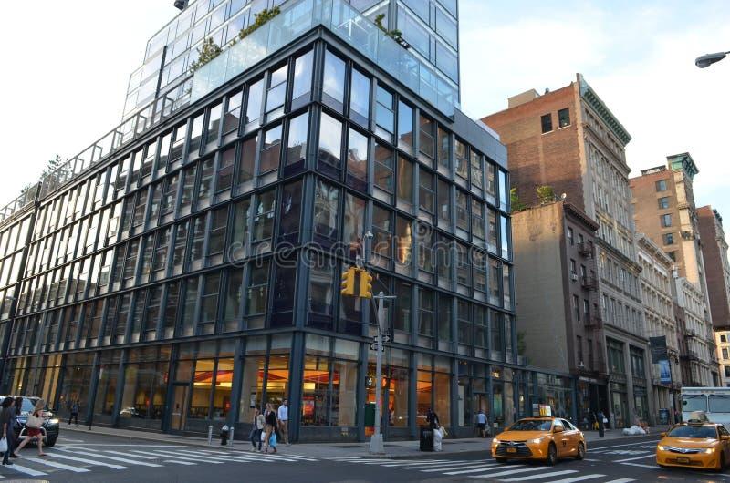 взгляд york улицы manhattan города новый стоковая фотография