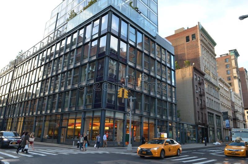взгляд york улицы manhattan города новый стоковые изображения rf
