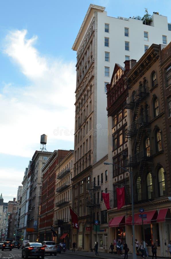 взгляд york улицы manhattan города новый стоковое фото rf