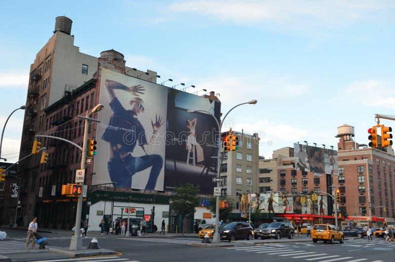 взгляд york улицы manhattan города новый стоковое изображение