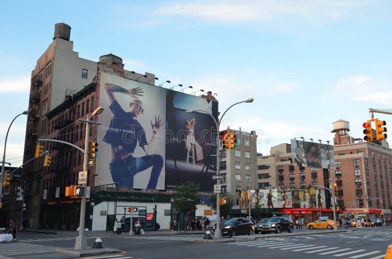 взгляд york улицы manhattan города новый стоковое фото
