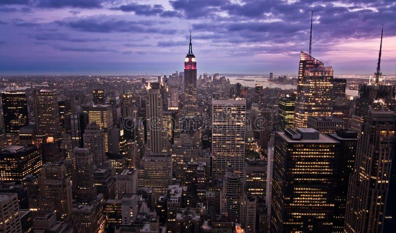взгляд york manhattan города новый стоковые фотографии rf