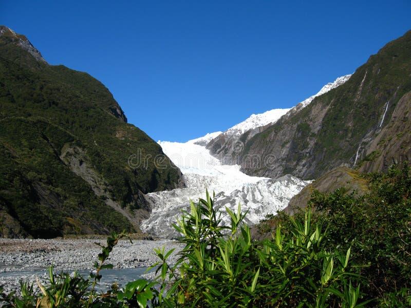 взгляд zealand josef ледника franz новый стоковые изображения