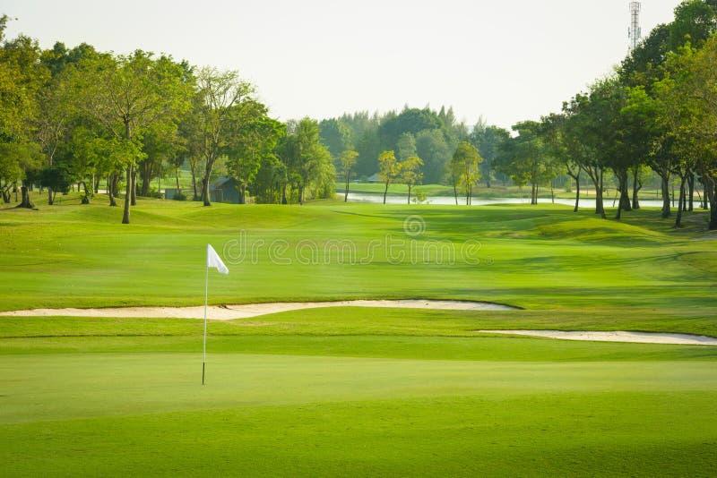 Взгляд ландшафта поля для гольфа стоковая фотография rf