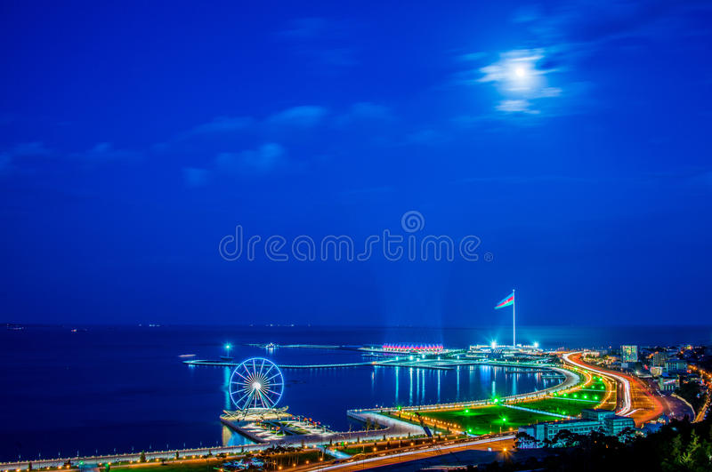 Взгляд Баку стоковое фото