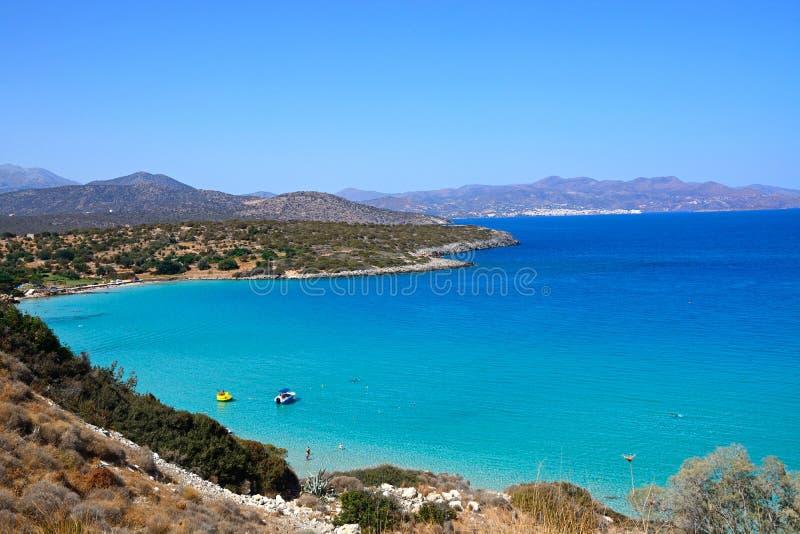 Взгляд береговой линии Istro, Крита стоковое изображение rf