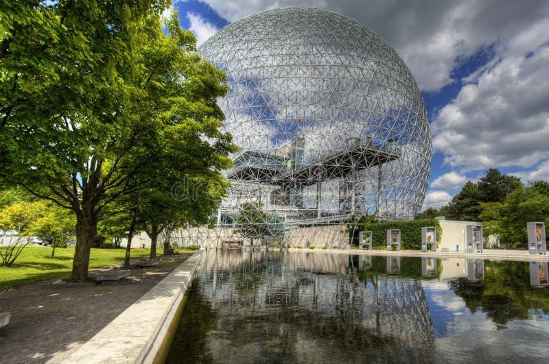 Взгляд биосферы в Монреале стоковая фотография rf